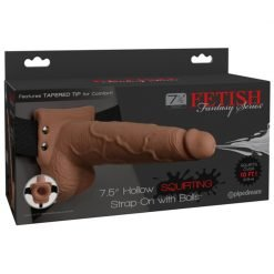 Fetish Fantasy 7.5 in. Hollow Squirting Strap-On With Balls
