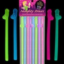 Glow-In-The-Dark Naughty Penis Straws