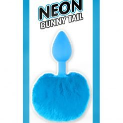 Neon Bunny Tail Blue