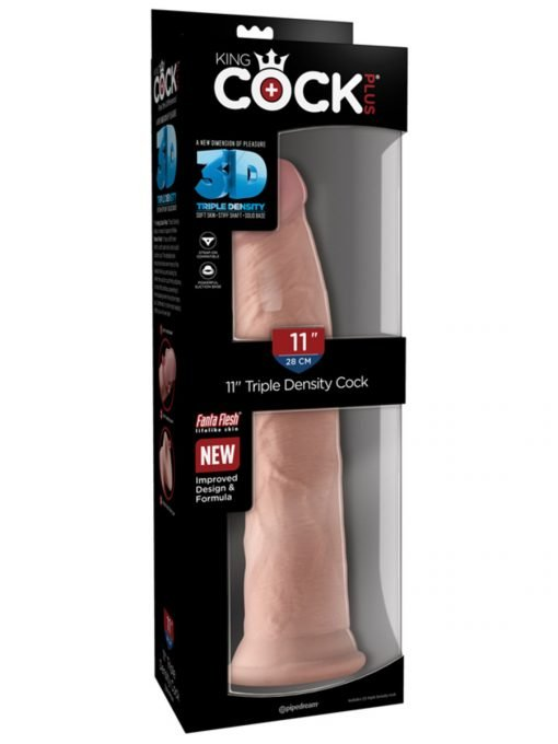 King Cock Plus 11 in.Triple Density Cock