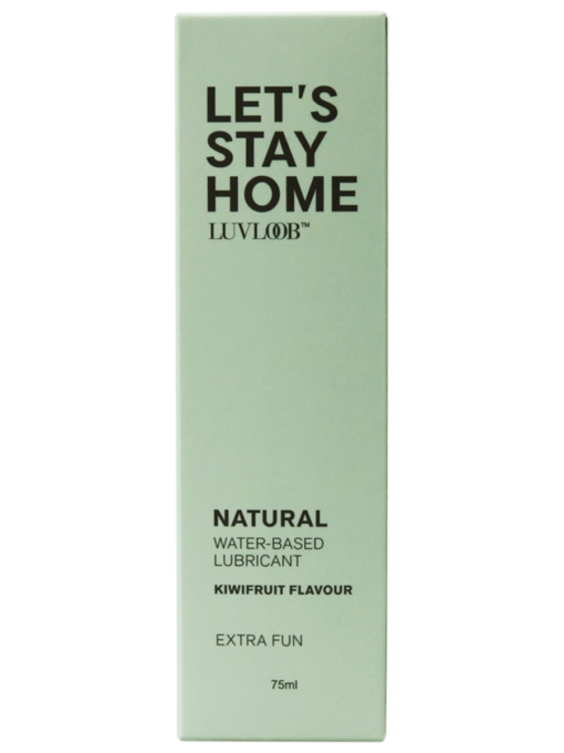 Luvloob Lets Stay Home Water-Based 75ml Lubricant Kiwifruit