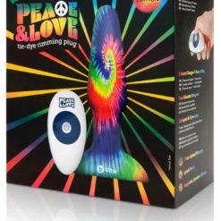 Peace And Love Tie-Dye Rimming Plug Set