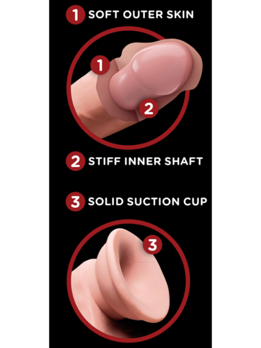 King Cock Plus Triple Density Cock with Swinging Balls 6 Inch
