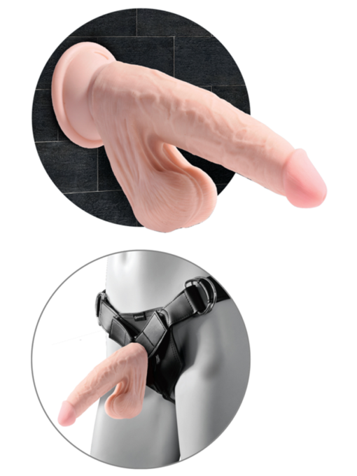 King Cock Plus Triple Density Cock with Swinging Balls 8 Inch
