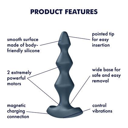 Lolli Plug 1 Anal Plug Vibrator By Satisfyer Dark Teal